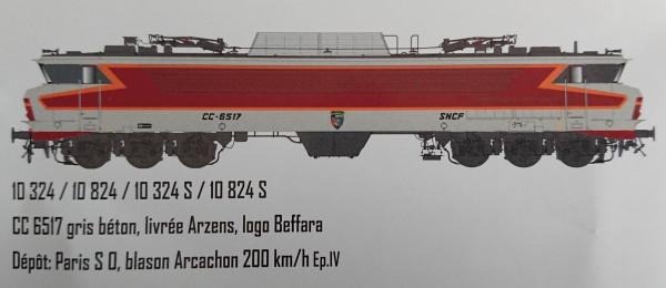 LS 10324S LOCOMOTIVE ELECTRIQUE CC6517 SUD OUEST SNCF