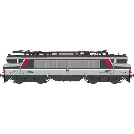 LS 11053 Locomotive électrique BB 22387 grande cabine livrée multiservices avec logo casquette et blason Liévin du dépôt de Rennes