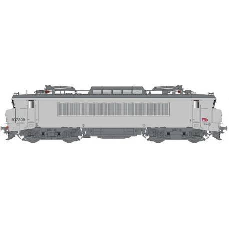 LS 11201 Locomotive électrique BB 7309 grande cabine livrée fantôme avec logo carmillon du dépôt de Bordeaux