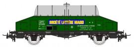NM50001 Wagon laitier vert citerne inox «Société Laitière Maggi»