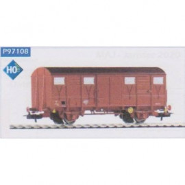 P97108 Wagon couvert SNCF à essieux