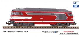 P96148 BB 67611, livrée Capitole, SNCF, Ep VI