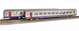 P58654 Set de 2 corail TER Bourgogne 1 et 2 CL Sncf ep IV