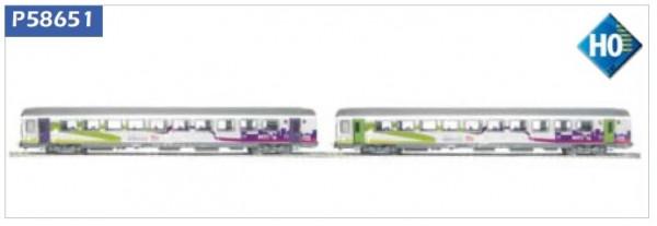 P58651 Set 2 voitures Corail SNCF , VTU Intercites