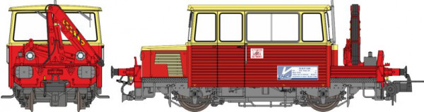 MB-109S DRAISINE DU65-6-049 OUEST AVEC GRUE SNCF