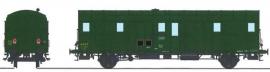 VB-329 FOURGON OCEM 32 Vert 306 2 lanternes ALU, câblot 1500V REGION EST SNCF N°19807