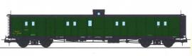 VB-347 FOURGON ex-PLM, vert PLM, vigie, échelle, toit et bouts noirs SNCF N°24636