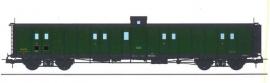 VB-348 FOURGON ex-PLM, vigie, échelle, toit et bouts noirs, vert 306 SNCF N°24603