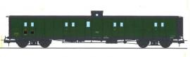 VB-350 FOURGON ex-PLM, vigie, toit et bouts noirs, petits marchepieds, vert 306 SNCF N°58896