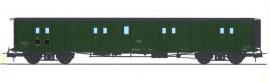 VB-351 FOURGON ex-PLM, toit noir, petits marchepieds, vert 306 SNCF N°58807