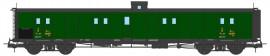 VB-357 FOURGON ex-PLM, vert PLM, vigie, échelle, toit et bouts noirs PLM N°24559