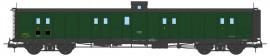 VB-358 FOURGON ex-PLM, vigie, échelle, toit et bouts noirs, vert 306 SNCF N°24583