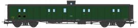 VB-359 FOURGON ex-PLM, vigie, toit et bouts noirs, petits marchepieds, vert 306 SNCF N°58821