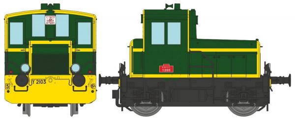 MB147 Y 2103 Vert 301, traverses et bandes jaunes, châssis noir, Sud-Est Ep.IV