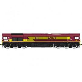 MBE002 Locomotive diesel class 66 ECR n°66072 livrée rouge et jaune