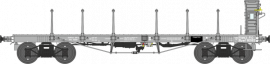 WB-507 Wagon plat TP ranchers longs et guérite Ep II PO Rywf 110582