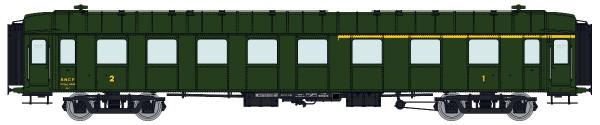 VB-269 SET de 3 Voitures OCEM RA A3B5myfi B9myfi B9myfi SNCF