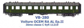 VB-280 VOITURE OCEM RA 3 eme CL C9yfi 11219 AL