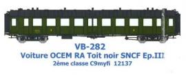 VB-282 VOITURE OCEM RA Toit Noir 2eme CL C9myfi 12137 SNCF