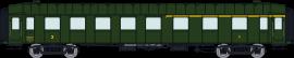 VB-283 VOITURE OCEM RA Toit VERT 1ere/2eme CL A3B5myfi 5870 SNCF