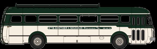CB-120  Autocar Renault R4190 vert et crème - Transports B Gonthier - Périgueux (24)
