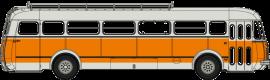 CB-122  Autocar Renault R4190 orange et gris - Transports Mèresse - Iwuy (59)