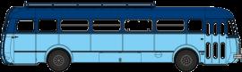 CB-123  Autocar Renault R4190 bleu clair / bleu foncé - Anonyme (66)
