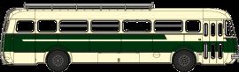 CB-124  Autocar Renault R4190 vert et crème - Transports Gras - Libos (47)