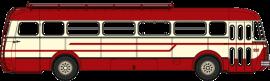 CB-125 Autocar Renault R4190 rouge et crème - Transports Mousset - Longwy (54)