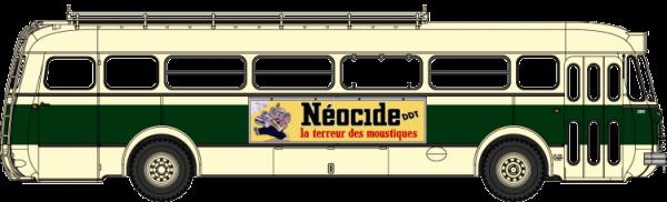 CB-127  Autocar Renault R4190 vert et crème - Publicité Néocide - SGTD (75)