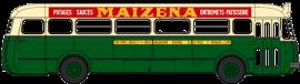 CB-128  Autobus Renault R4190 vert et crème- Publicité Maïzena - RATP - Ligne 258 (75)