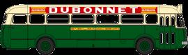 CB-129  Autobus Renault R4190 vert et crème – RATP- Publicité Dubonnet - Ligne 262 (75)