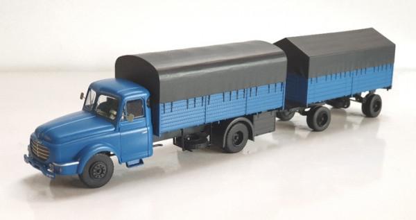 CB-106 Camion Willeme Bleu Bâché + remorque