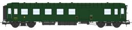 VB-416 VOITURE Métallisée Ex-PLM, B4D N°54213, feux de fin de convoi, vert 306, SNCF Ep.III B