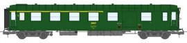 VB-417 VOITURE Métallisée Ex-PLM, A4D N° 51 87 81-40 403-4, feux de fin de convoi, vert 301, SNCF Ep.IV