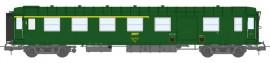 VB-418  VOITURE Métallisée Ex-PLM, A4D N° 51 87 81-40 412-5, feux de fin de convoi, vert 301, SNCF Ep.IV