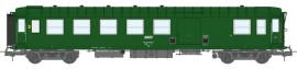 VB-420 VOITURE Métallisée Ex-PLM, B4D N° 51 87 82-40 875-2, feux de fin de convoi, vert 301, SNCF Ep.IV