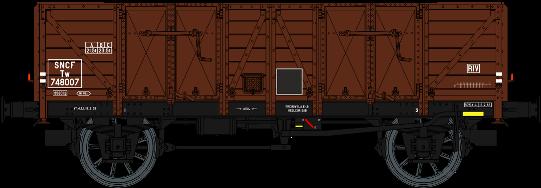 WB-481 Set de 2 tombereaux Ocem 29 Brun SNCF