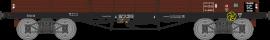 WB-497 Wagon plat TP 5 Ridelles ETAT Ep II