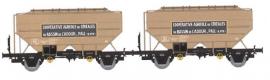 WB-555 Set de 2 wagons Ep.III COOPERATIVE AGRICOLE DE L'ADOUR