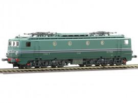 MB-107 Locomotive électrique CC 7124 livrée avec jupe écancrée et frotteur pour 3ième rail Maurienne du dépôt de Chambéry