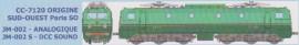 JM-002S Locomotive électrique CC 7120 Origine Sud-Ouest, dépôt Paris Sud-Ouest