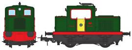 MB091S - MOYSE 32 TDE Industriel, VERT porte jaune, pas de phare - DCC SOUND, REE