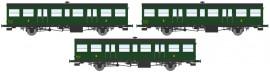 VB-152  Coffret 3 Sud-Ouest, grandes ou petites gouttières, porte-lanternes modernes (1xB6tf 2xB6t) – Epoque III-B