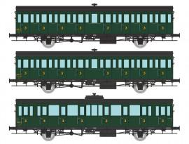 VB-288 COFFRET de 3 voitures à portières latérales 15 mètres 3ème classe