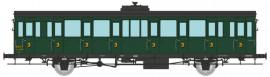 VB-290 Voiture à portières latérales 15 mètres SNCF ex P.O. 3ème classe