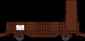 WB-565 WAGONNET DE DRAISINE TOMBEREAU AVEC GUERITE SNCF