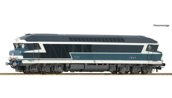 73005 Locomotive diesel CC 72085 livrée bleue à plaques avec logo rond