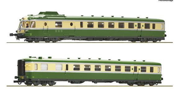 73006 AUTORAIL DIESEL RGP 2 TEE X 2720 XR 7700 LEZARD VERT RAME GRAND PARCOURS SNCF