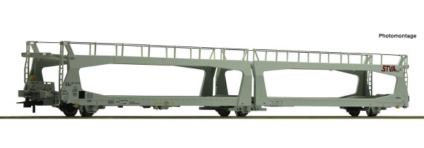 76838 Wagon porte-autos TYPE TA378 STVA SNCF livrée gris avec 3 essieux